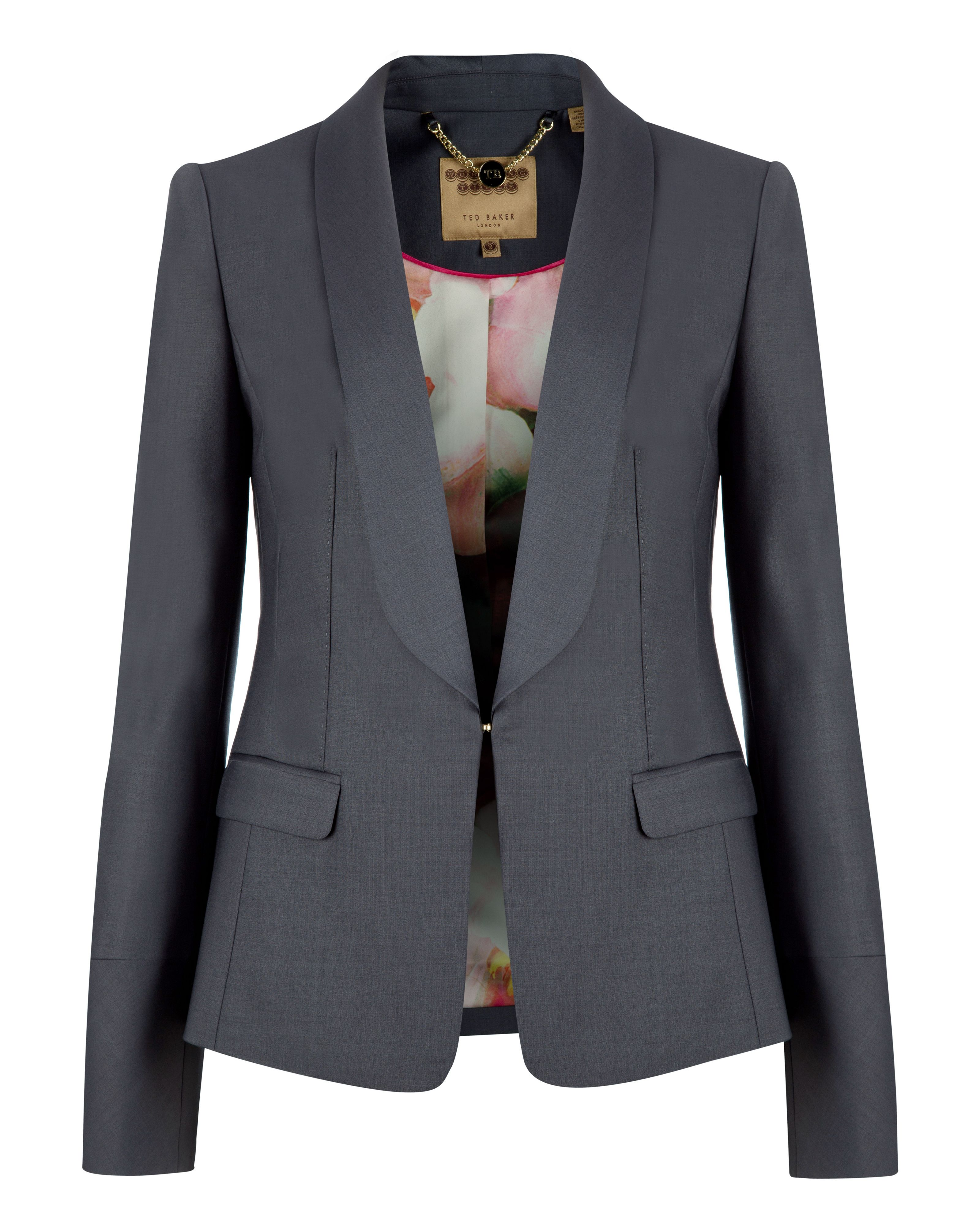 Lael shiny wool suit jacket