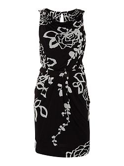 Marella Bacillo short sleeved flower print jersey dress