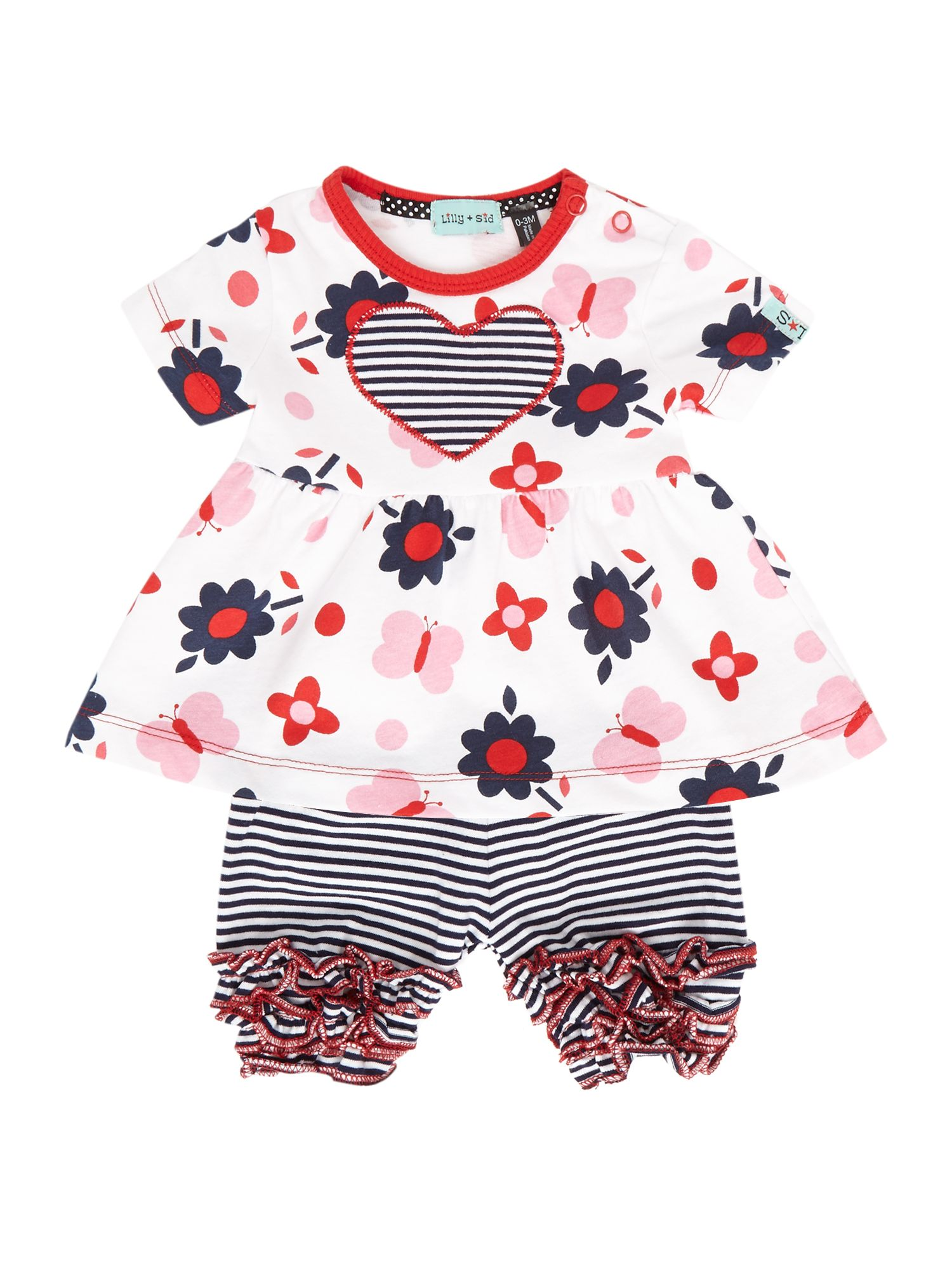 Baby girl butterfly dress and bloomer set