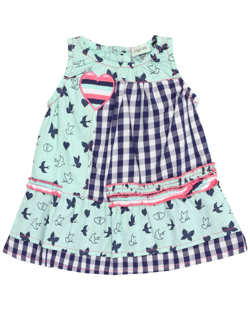 Baby girl mixed print woven dress