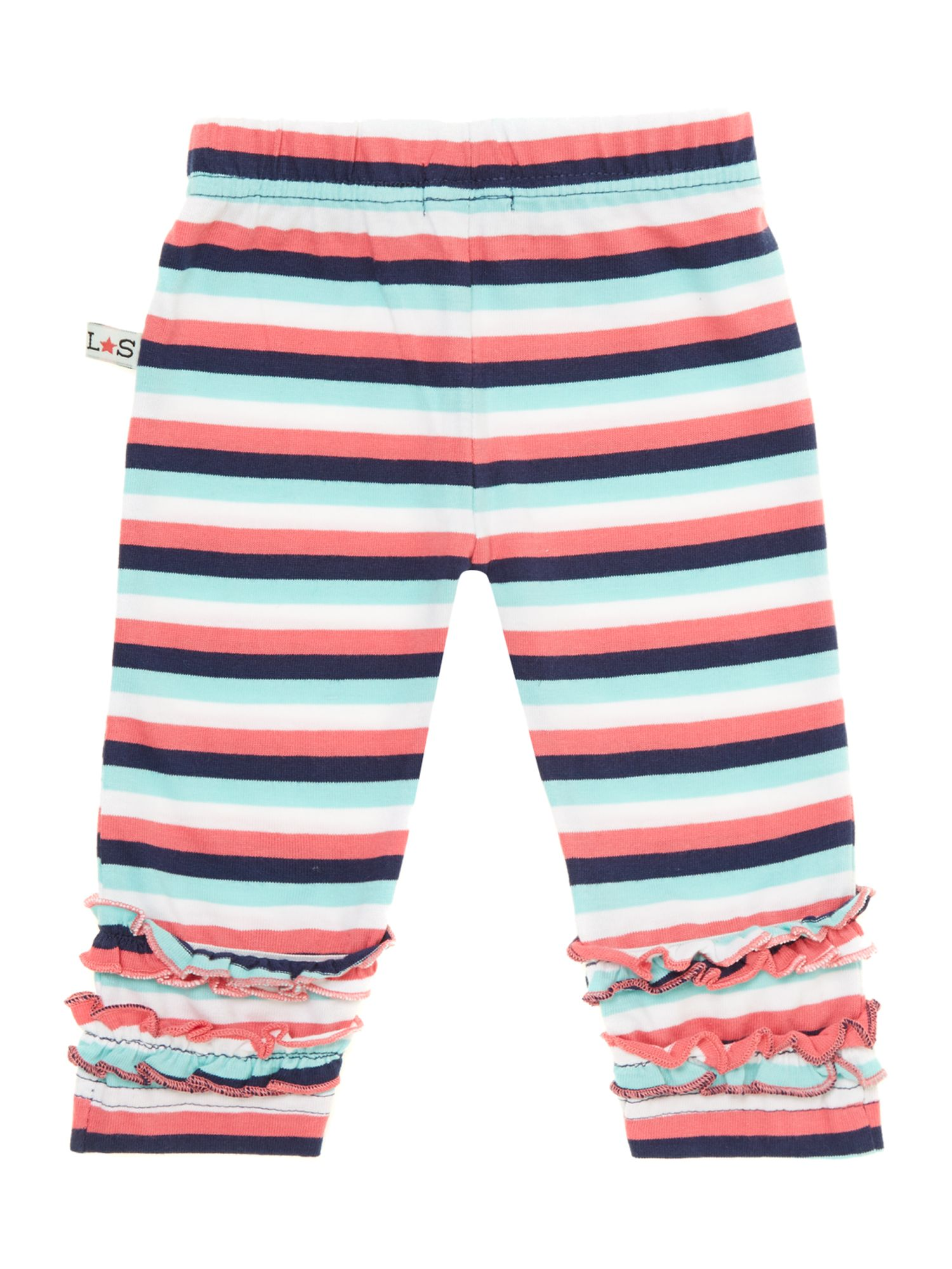 Baby girl stripe ruffle legging