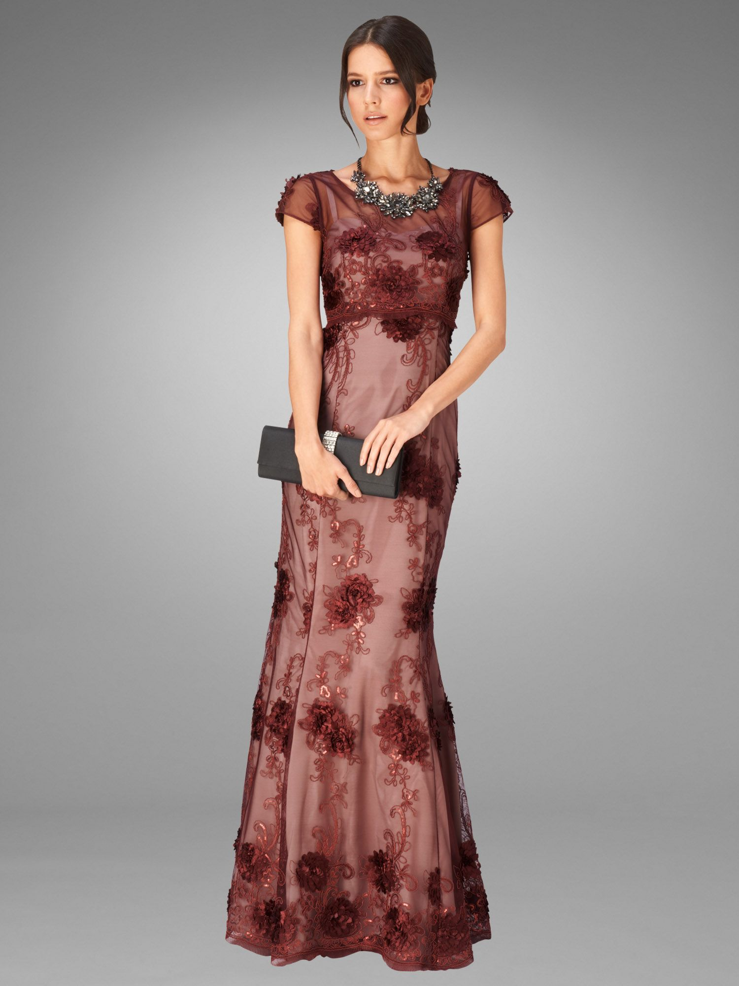 Emanuela petals full length dress