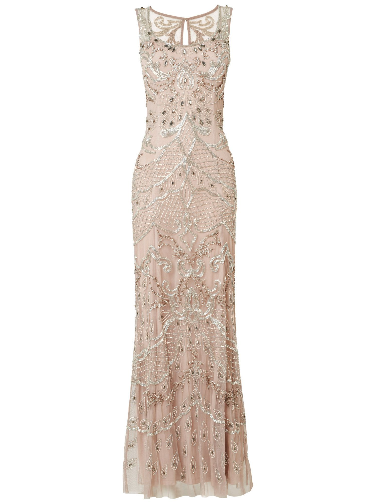 Alessandra embellished full length dress