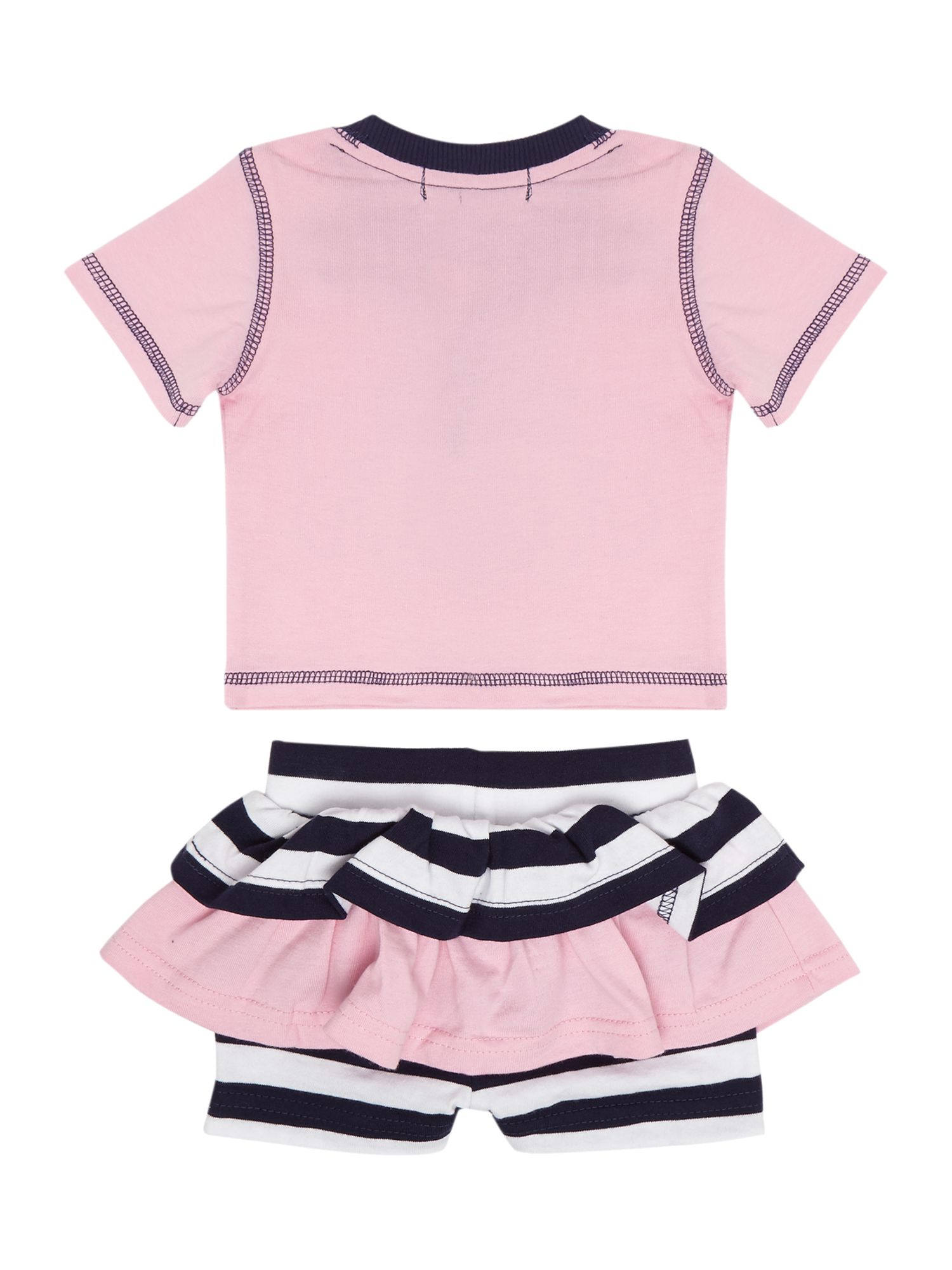 Baby girl skirty short & applique t-shirt set