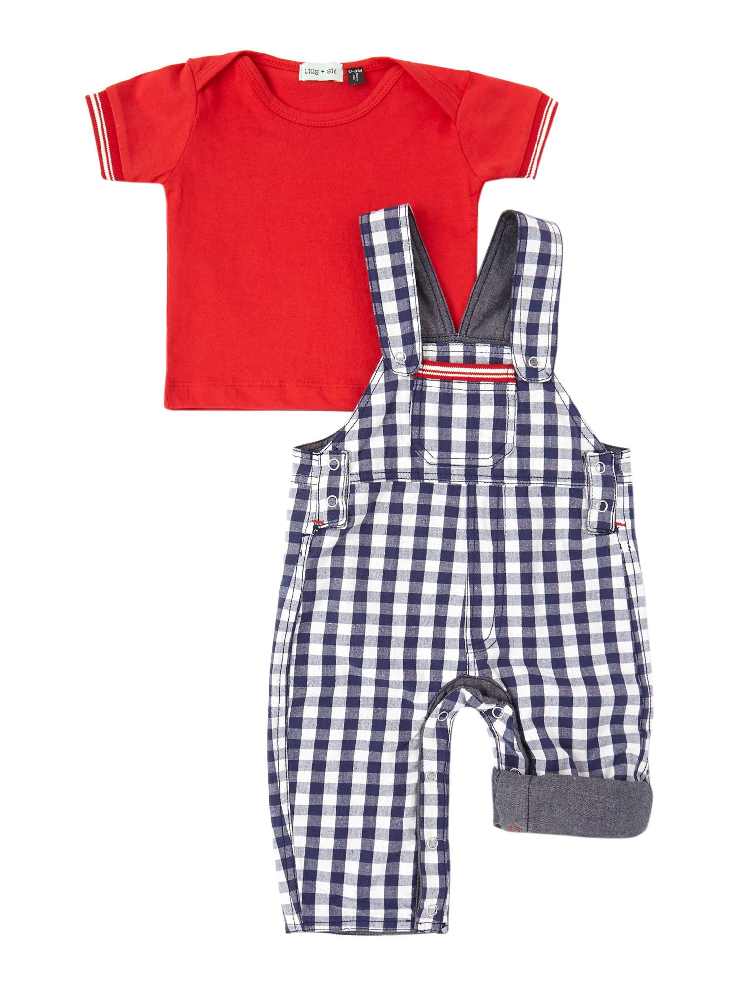 Baby 8 ways to wear woven dungaree set