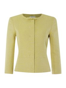 Varano long sleeved jacket with bow collar detail