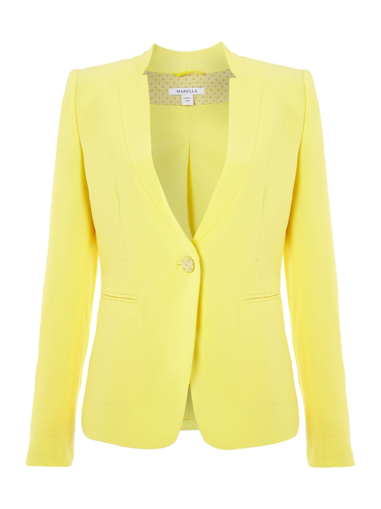 Dionne long sleeved button detail blazer