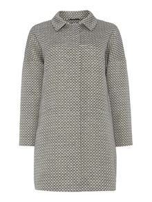 Barengo long sleeved sparkle print coat