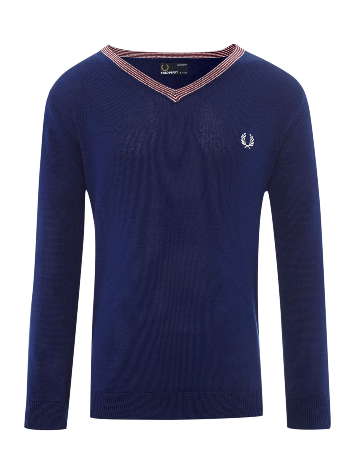 Tipped v-neck classic jumper
