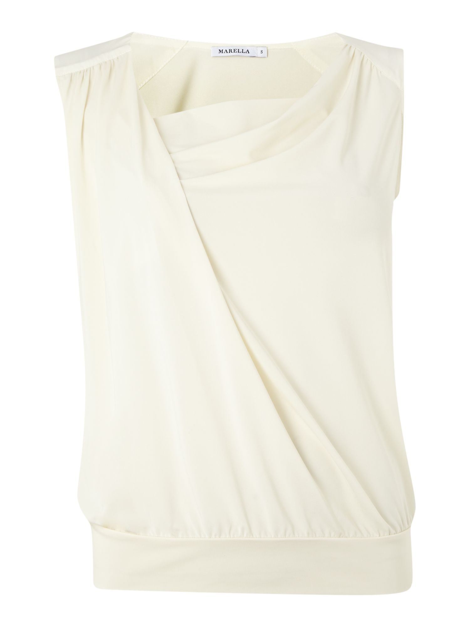 Paride sleeveless cowl wrap top