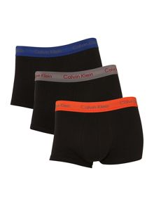 3 pack block colour waistband underwear trunk