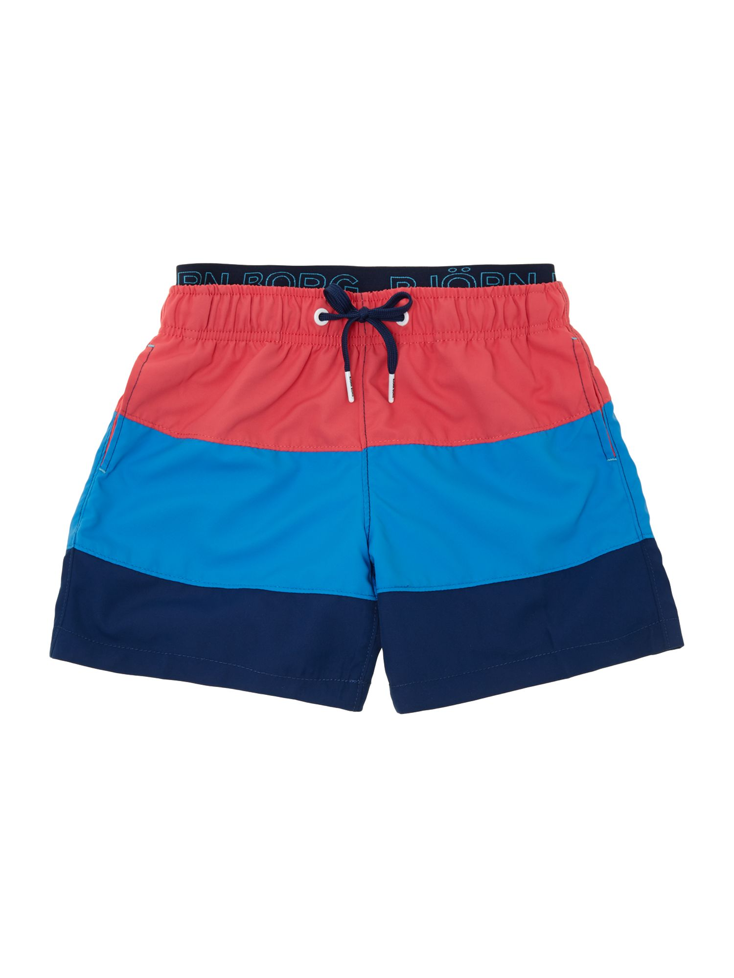 Boys colour block swim shorts