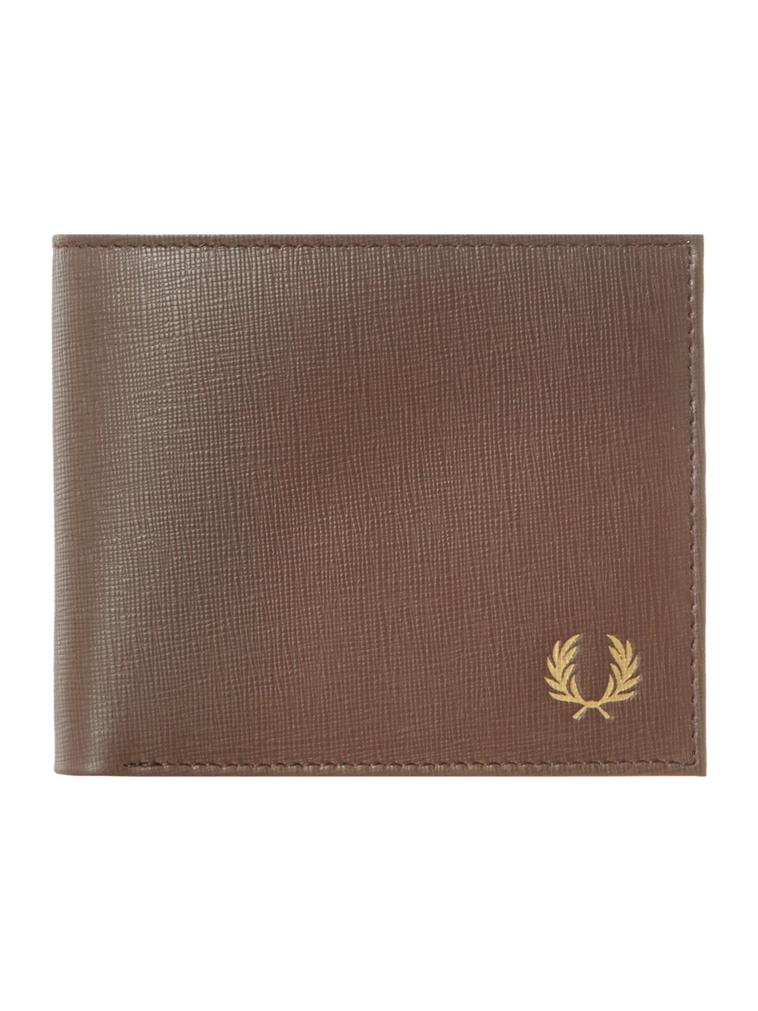 Leather contrast lining billfold wallet