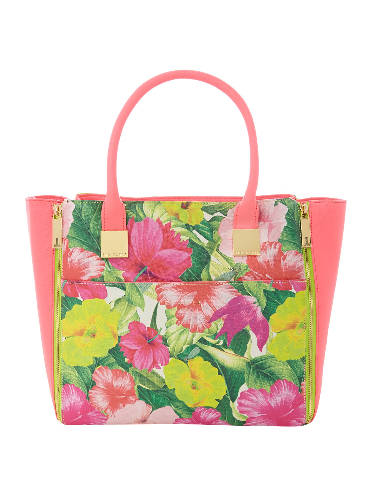 Floral large tote bag