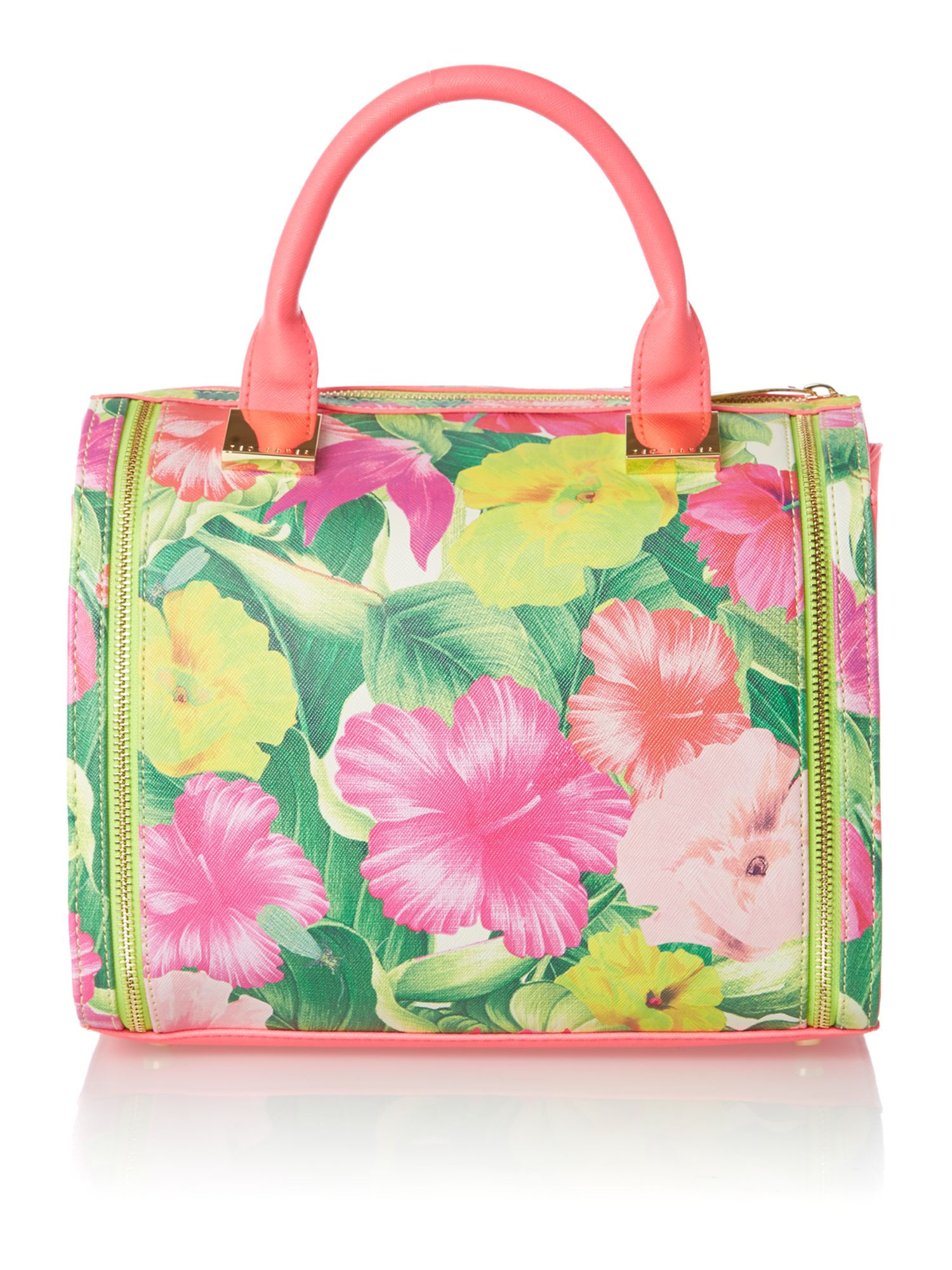 Floral medium bowling bag