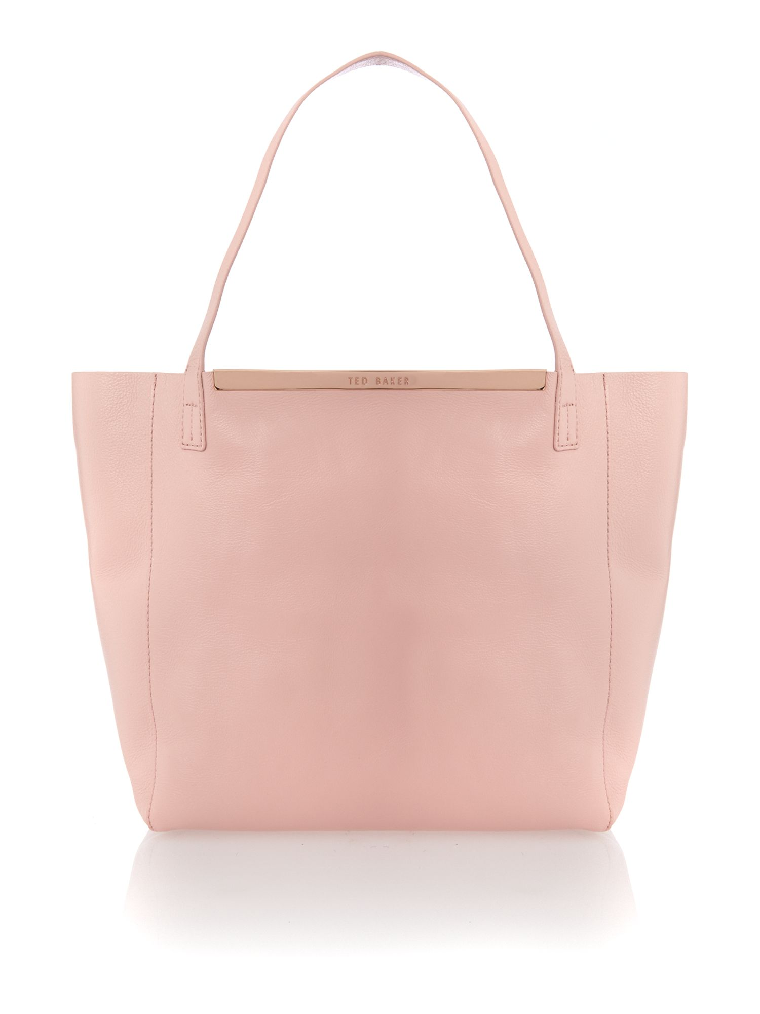 Pink large reversible tote bag
