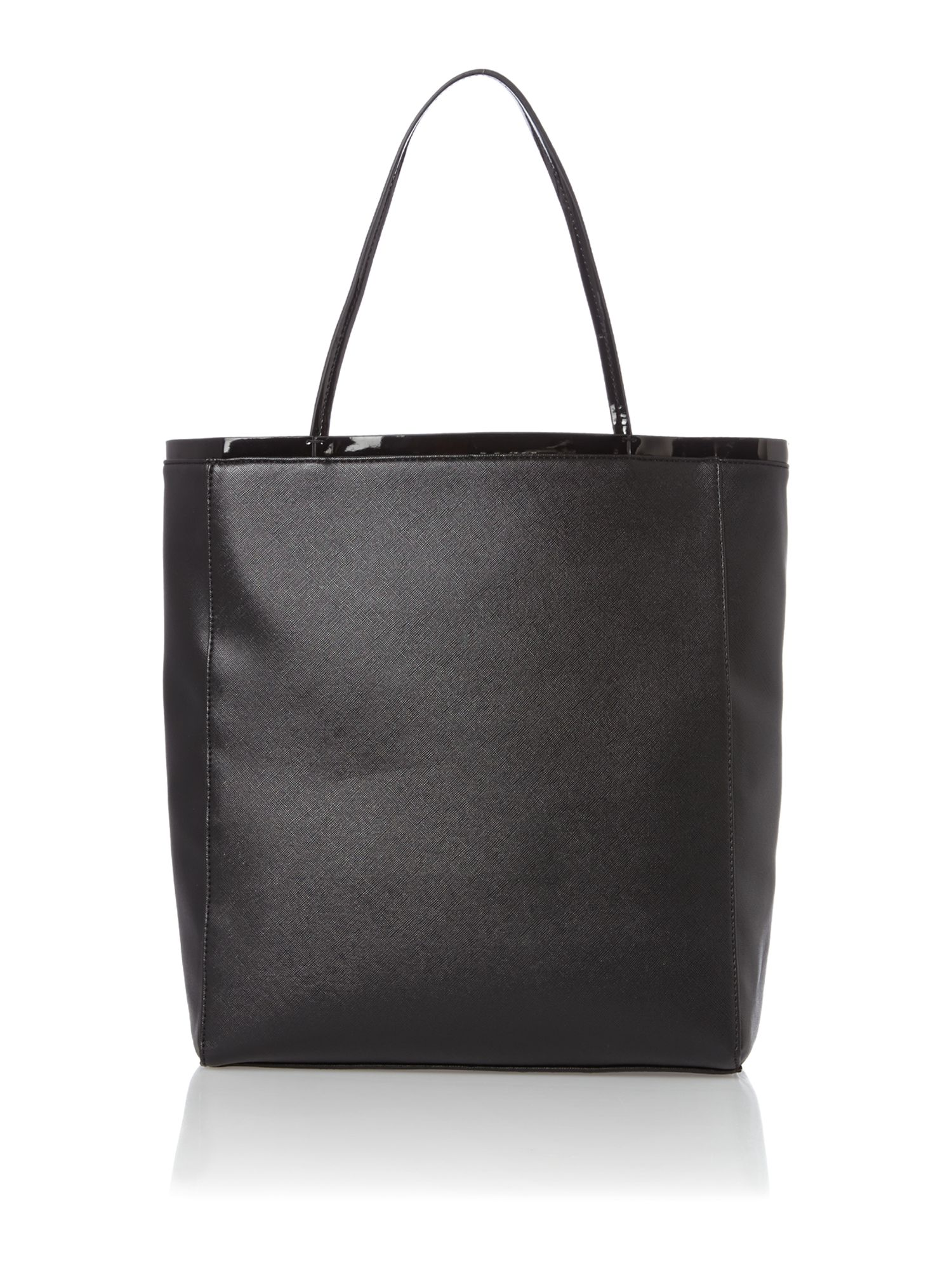 Black large jewel tote bag