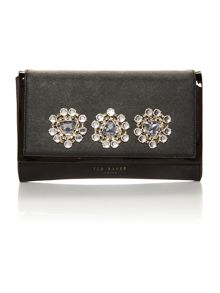 Black medium jewel clutch bag