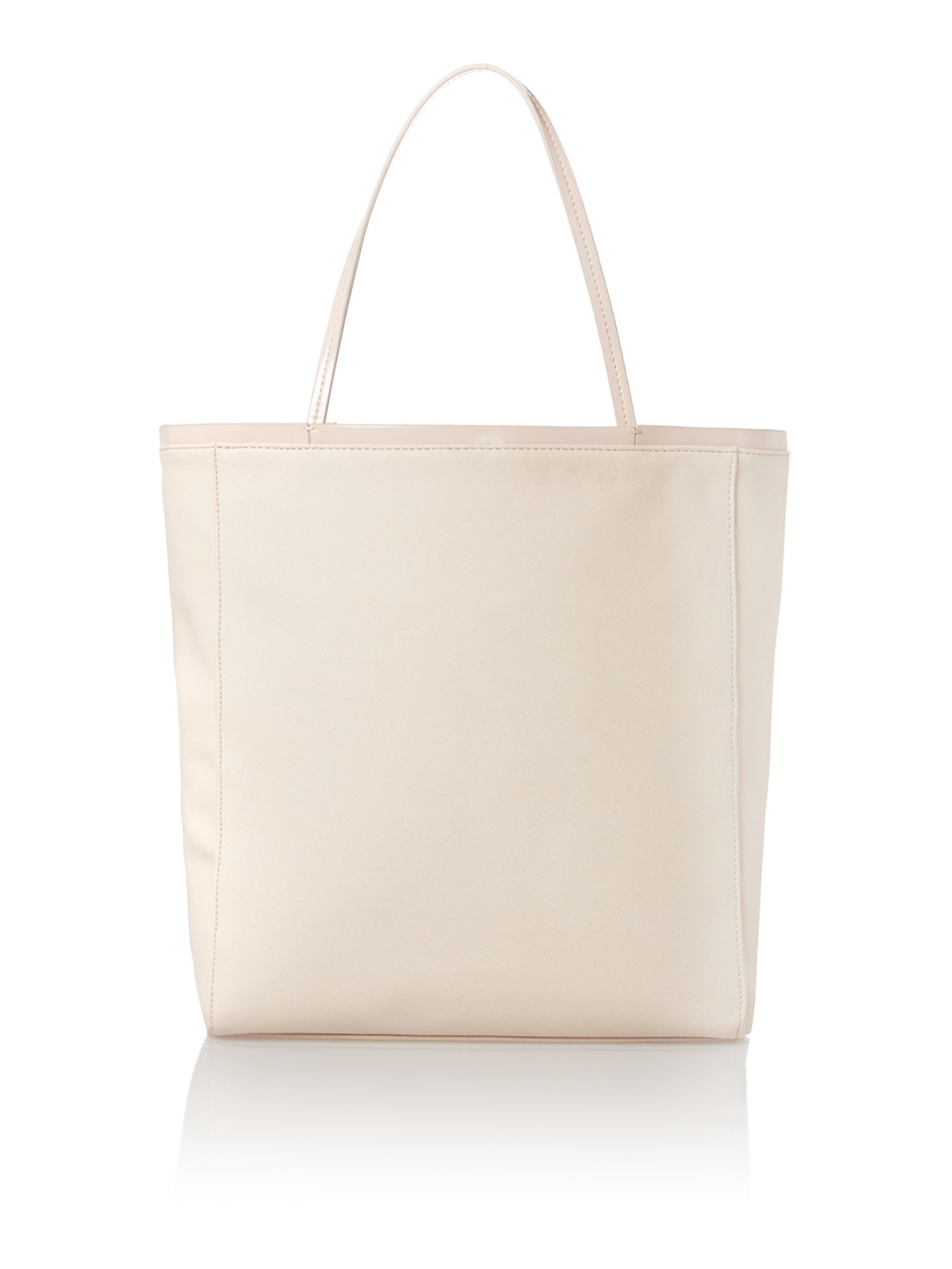 Nude large jewel tote bag