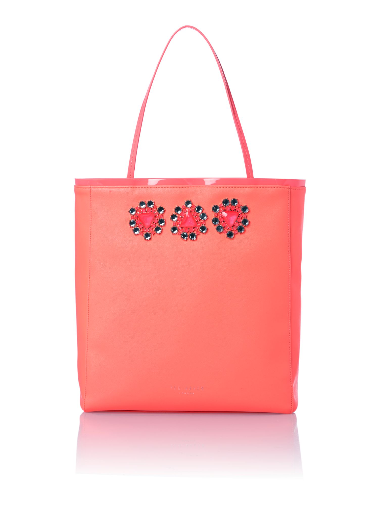 Pink large jewel tote bag