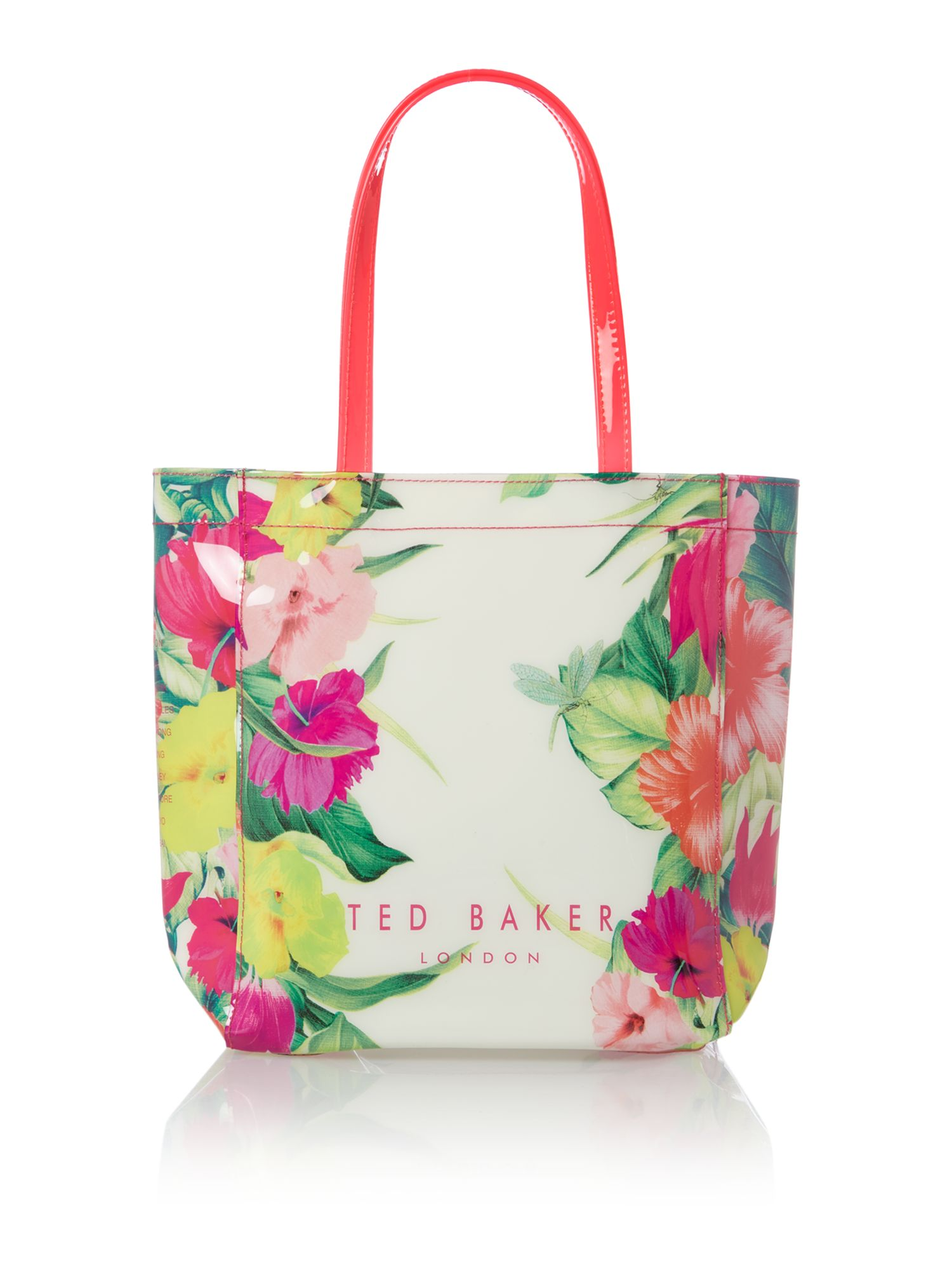 Floral small tote bag