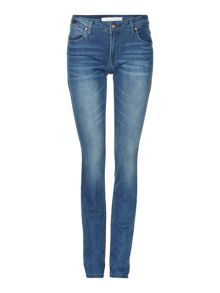 Slim mid rise pencil leg jeans