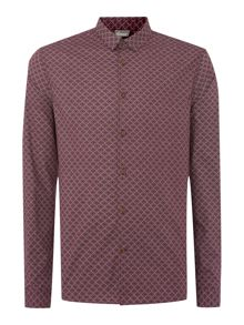 Buxworth diamond printed long sleeved shirt