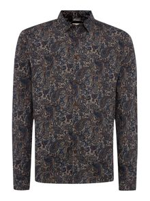 Chatsworth paisley printed long sleeved shirt