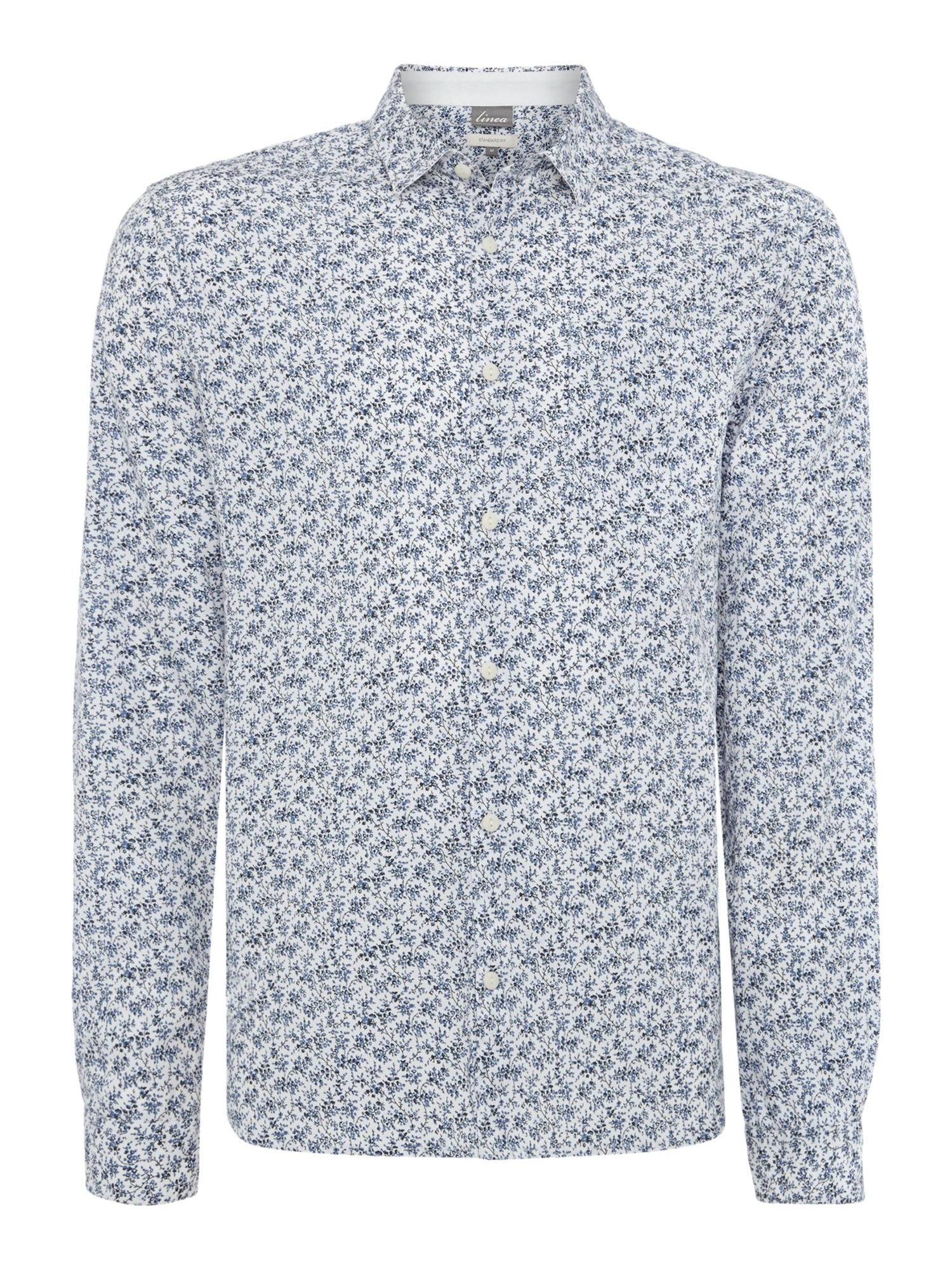 vale floral printed long sleeved shirt
