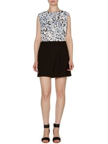 Pied a Terre Crepe Tuck Detail Skirt