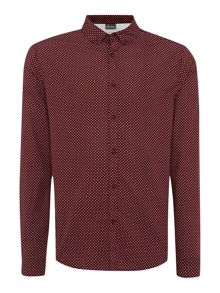 Edale star printed long sleeved shirt