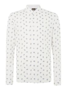 Wotton birdcage printed long sleeved shirt