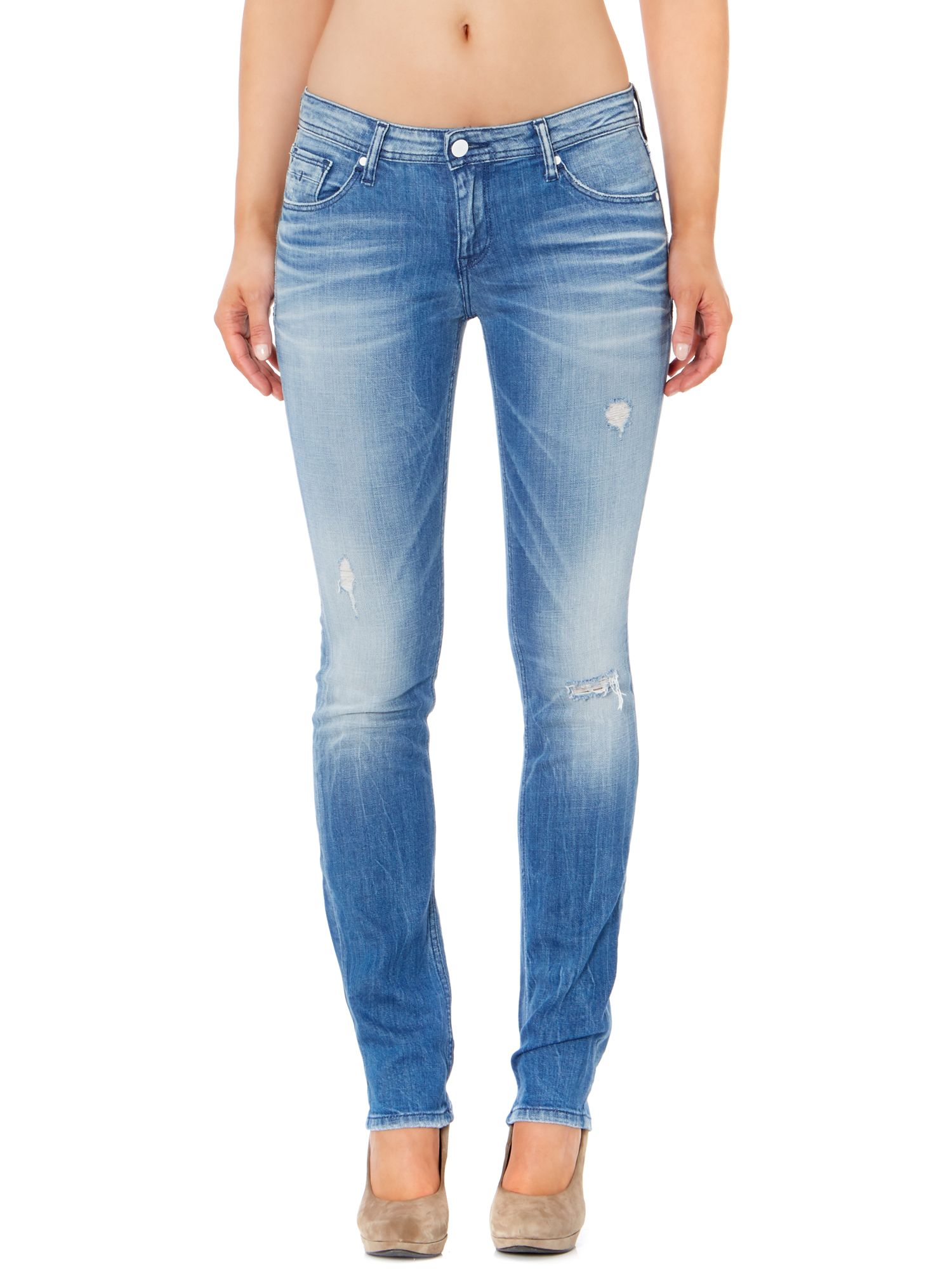 Skinny mid rise jeans