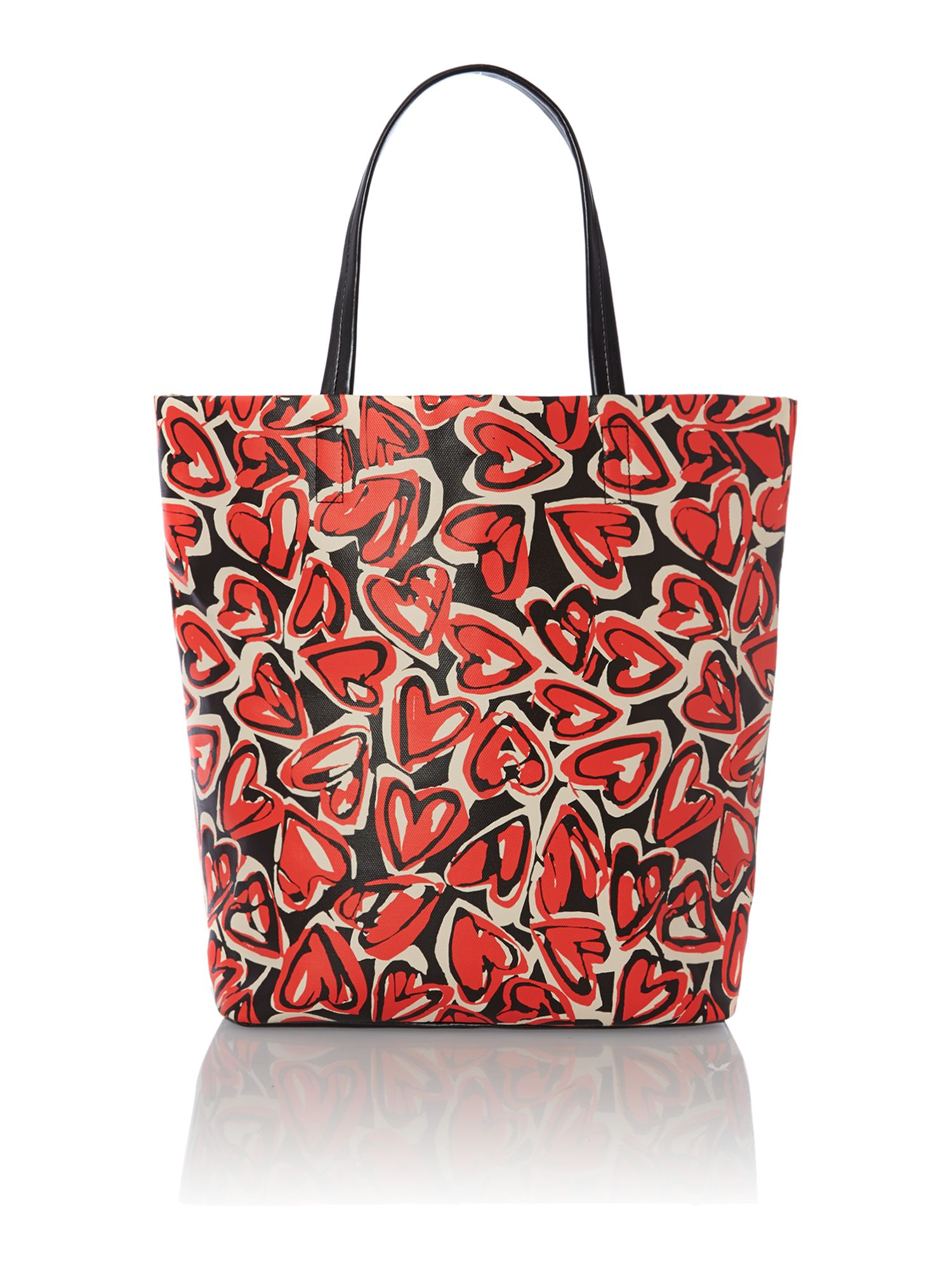 Nylon logo multi-coloured tote bag