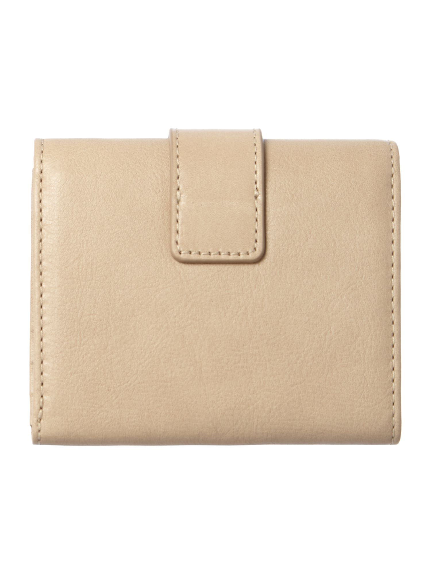 Neutral small flap over purse