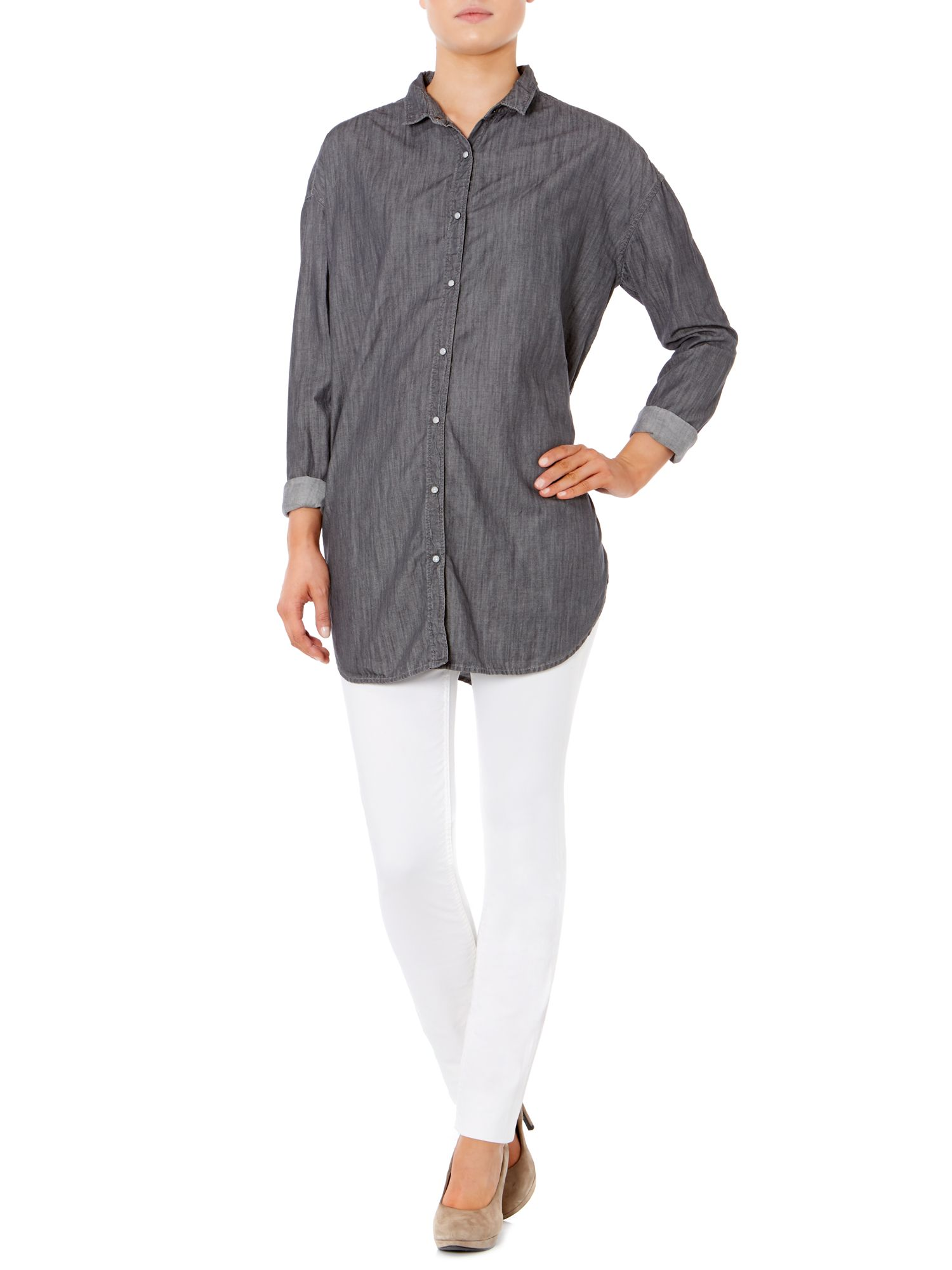 Whisper long sleeve denim shirt