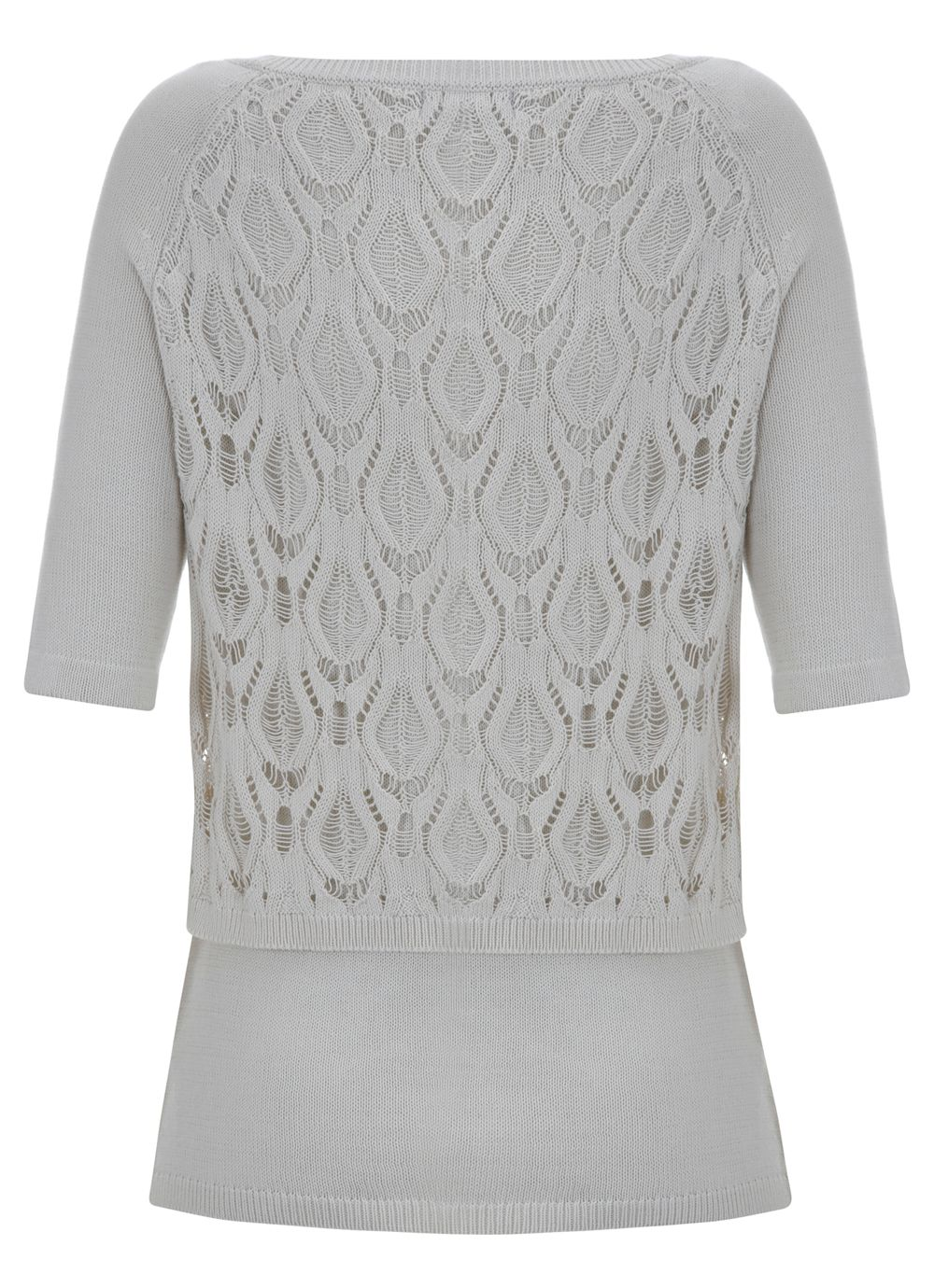 Vanilla lace layer knit