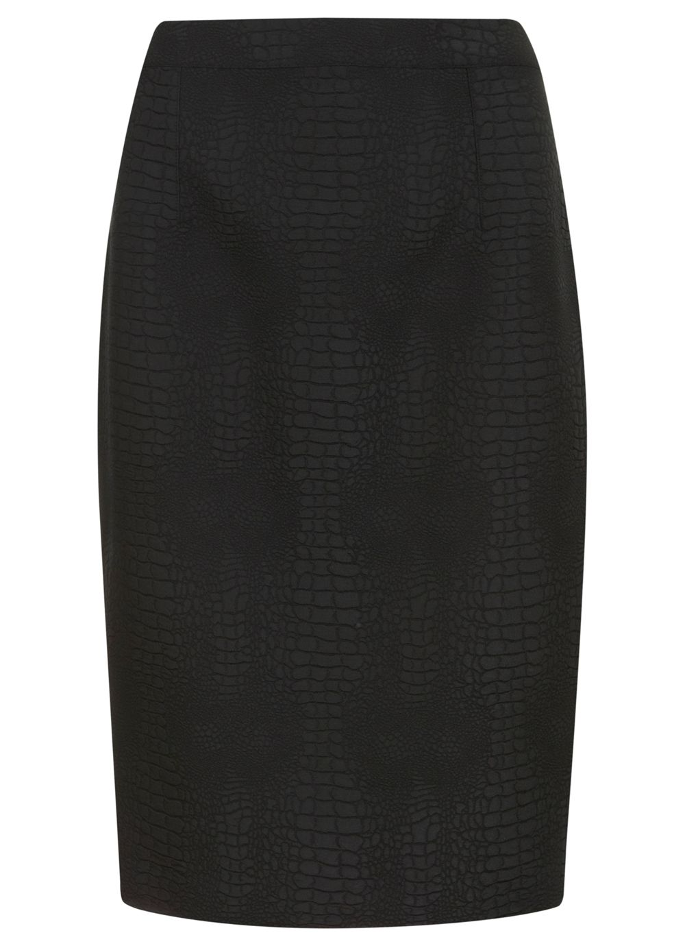 Black animal pencil skirt