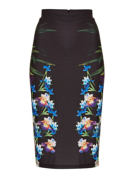 Therapy Floral scuba tube skirt