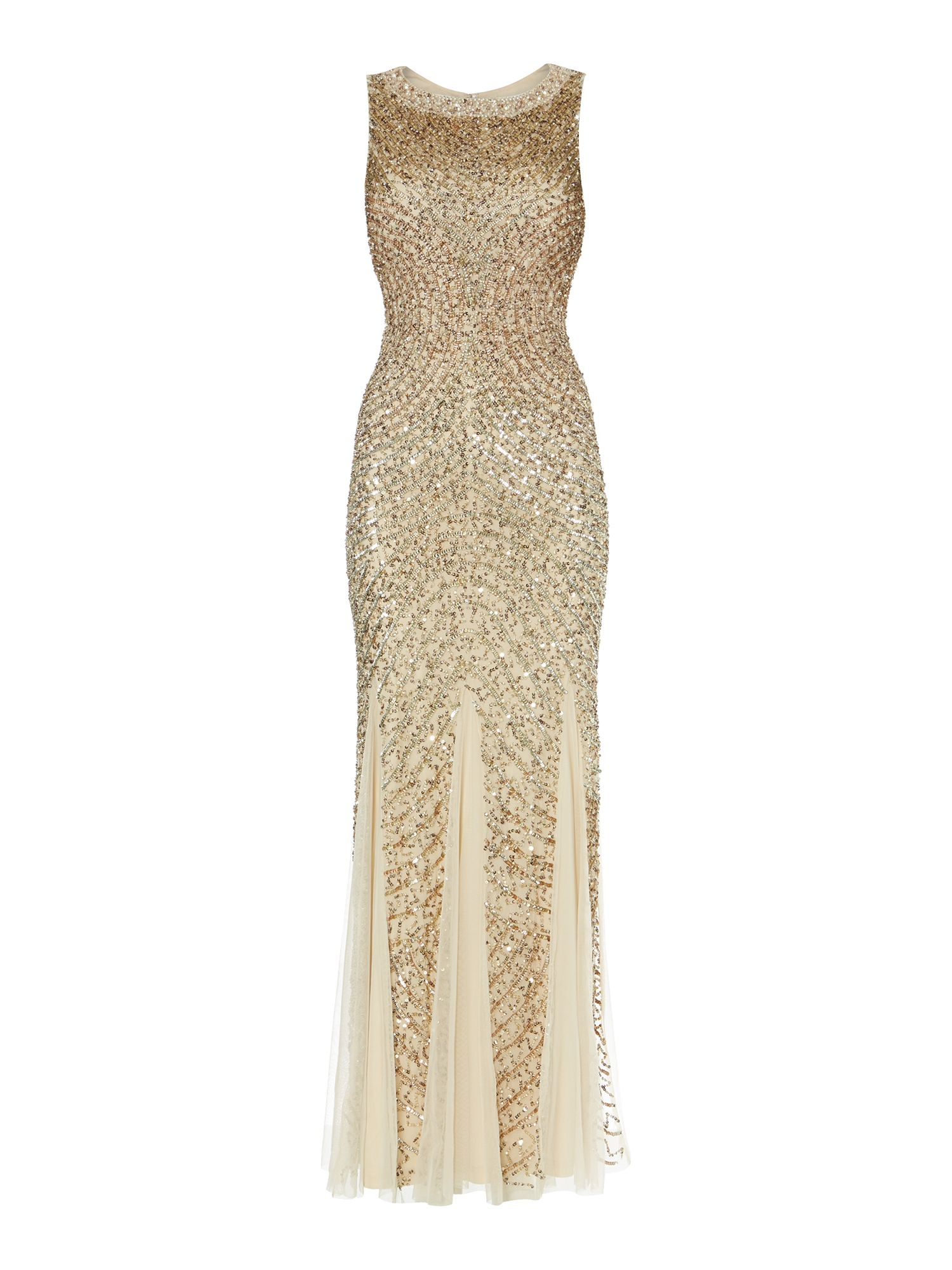 Full Deco Beaded Gown