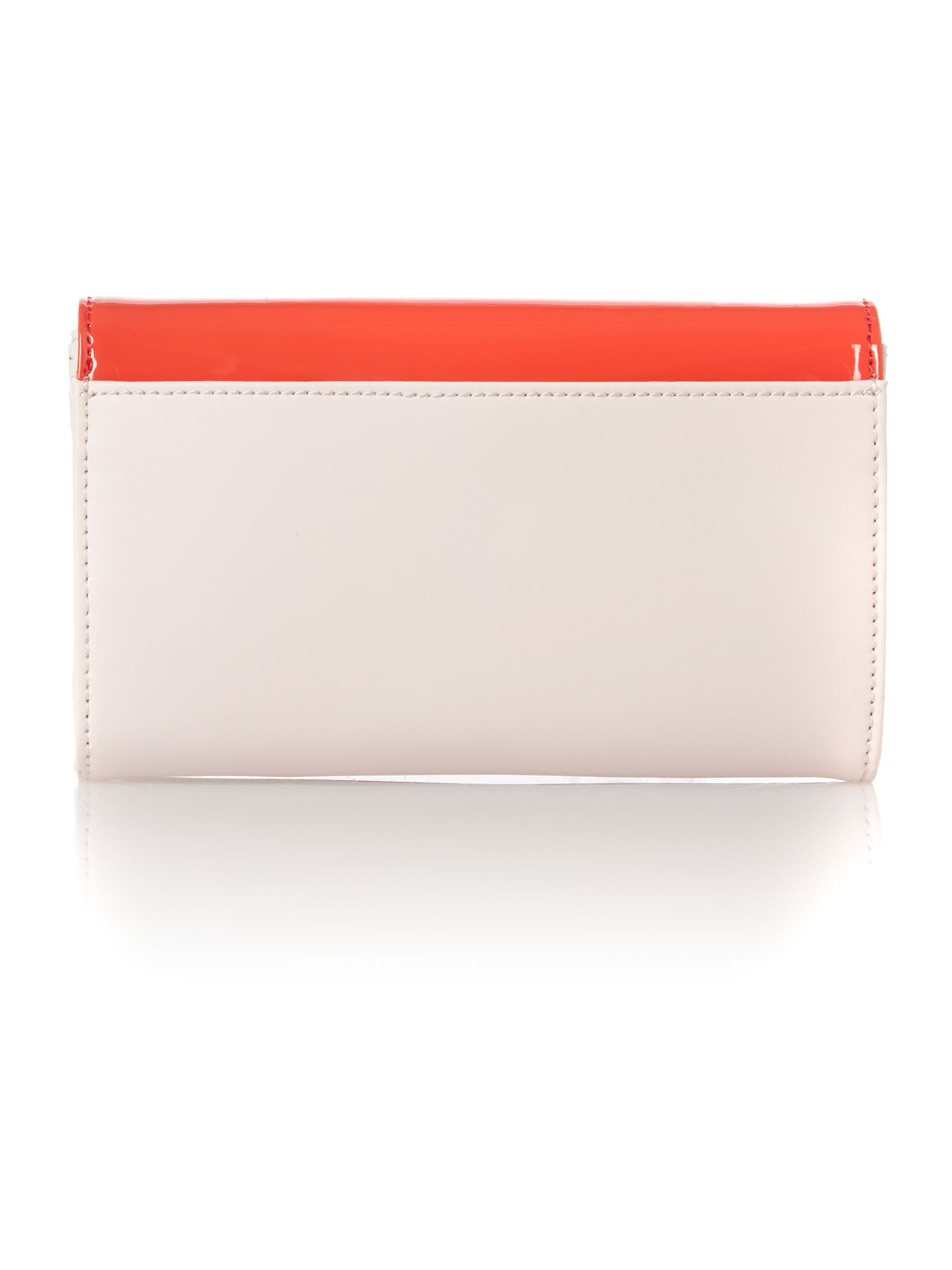 Orange small patent cross body bag