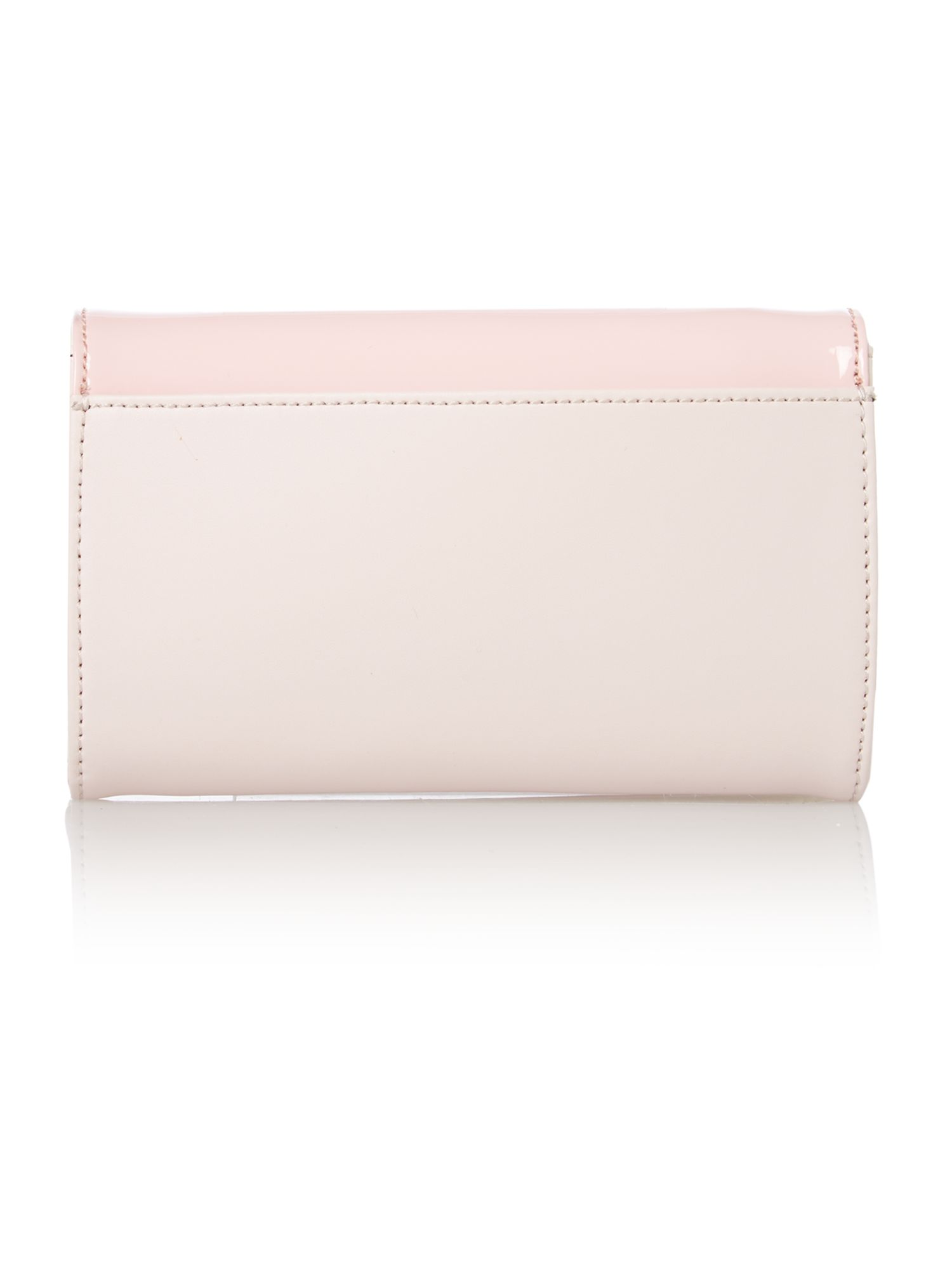 Pink small patent cross body bag