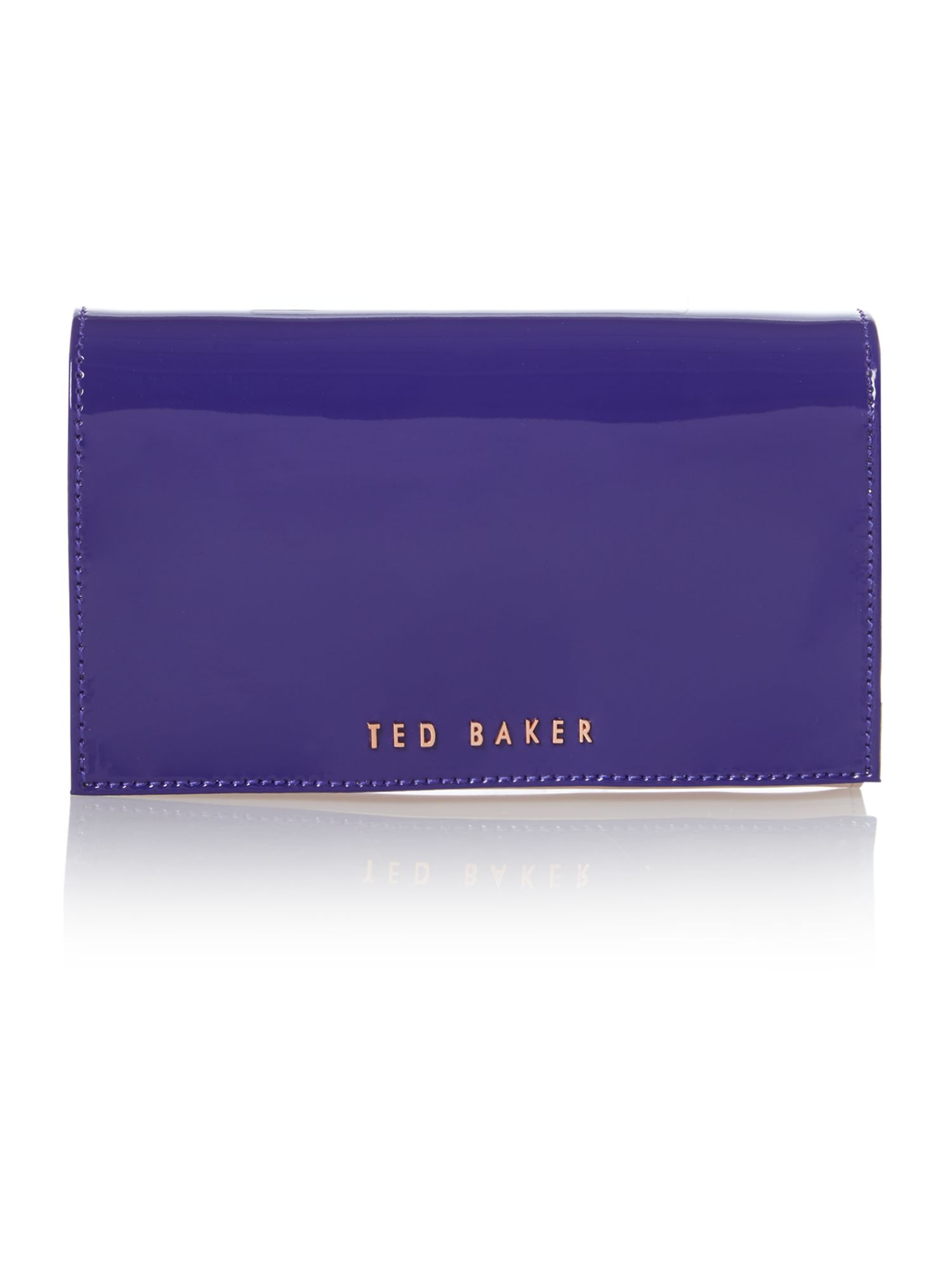 Purple small patent cross body bag