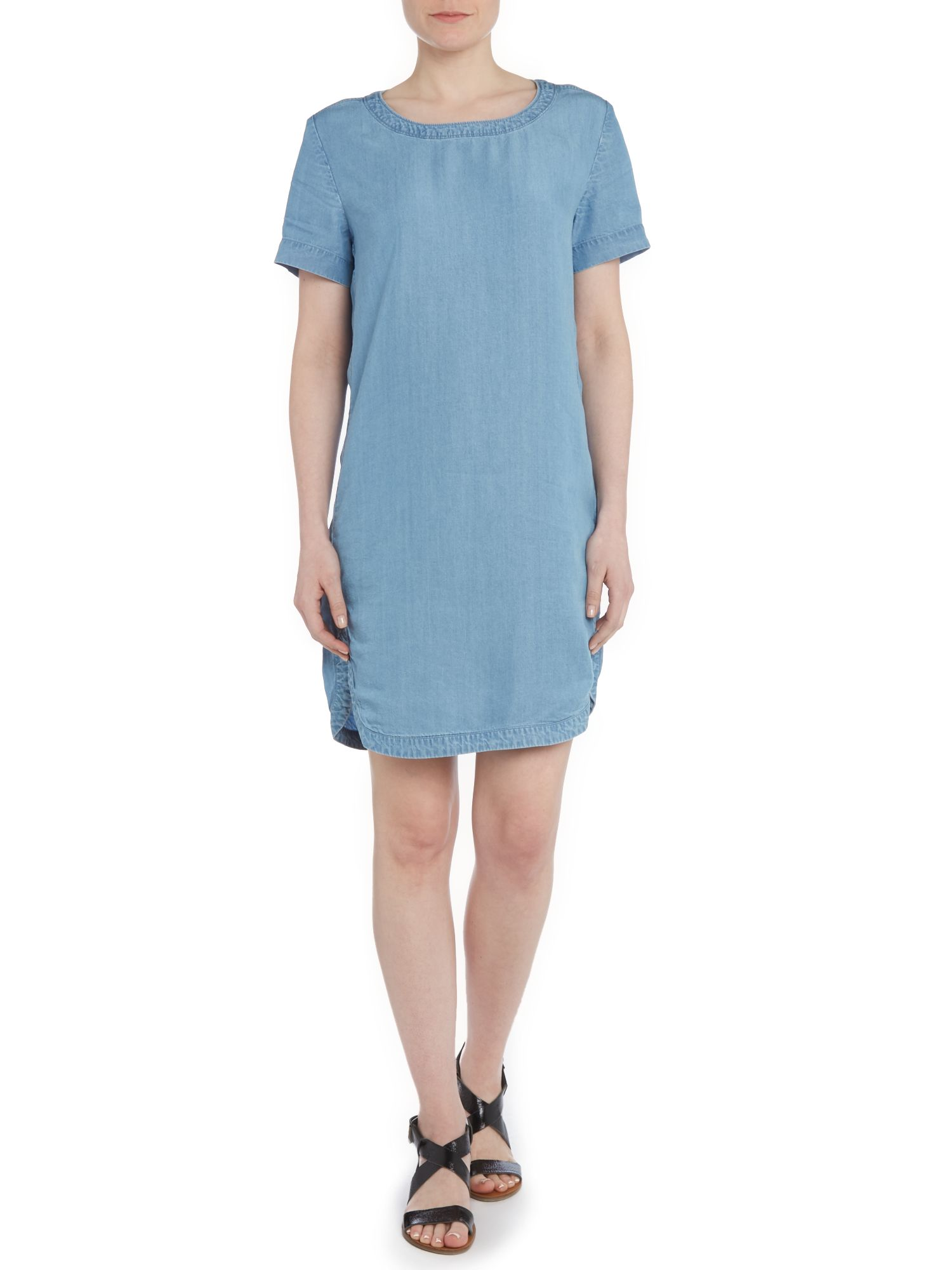 Dawn denim short sleeve dress