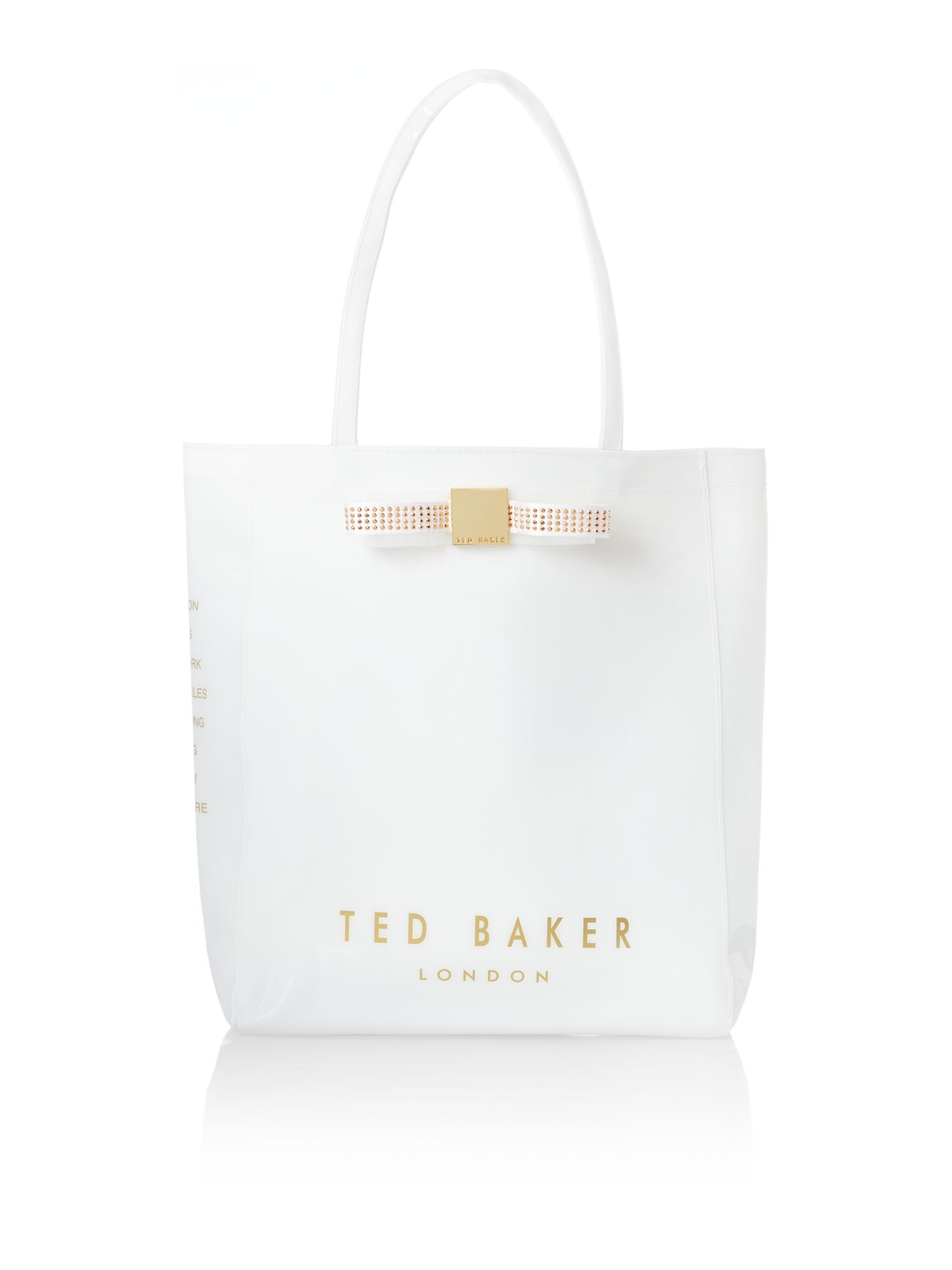 White large tote bag