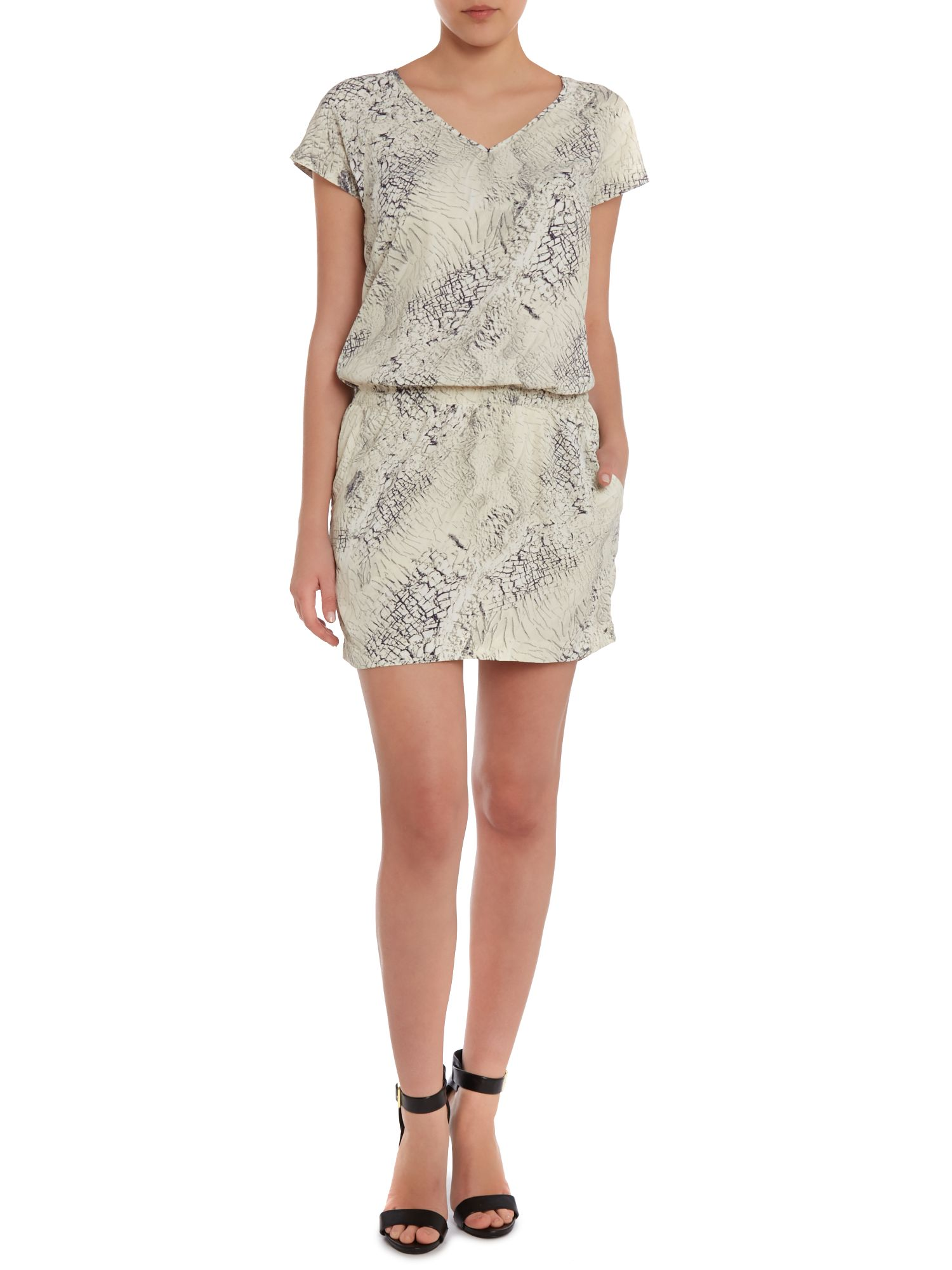 Dee printed short sleeve dress