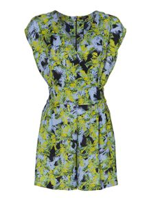 Palm print playsuit