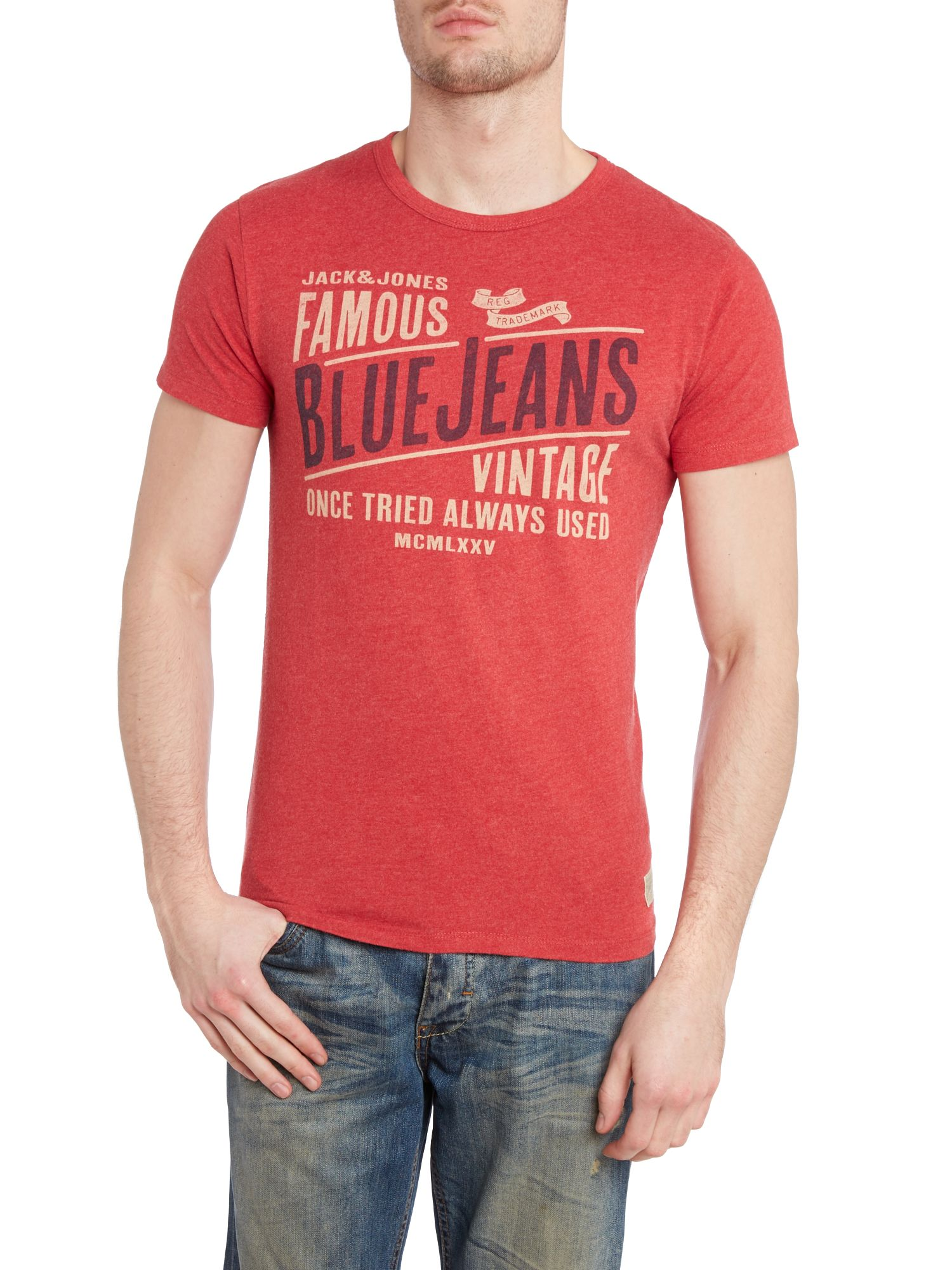 Blue jeans graphic t-shirt