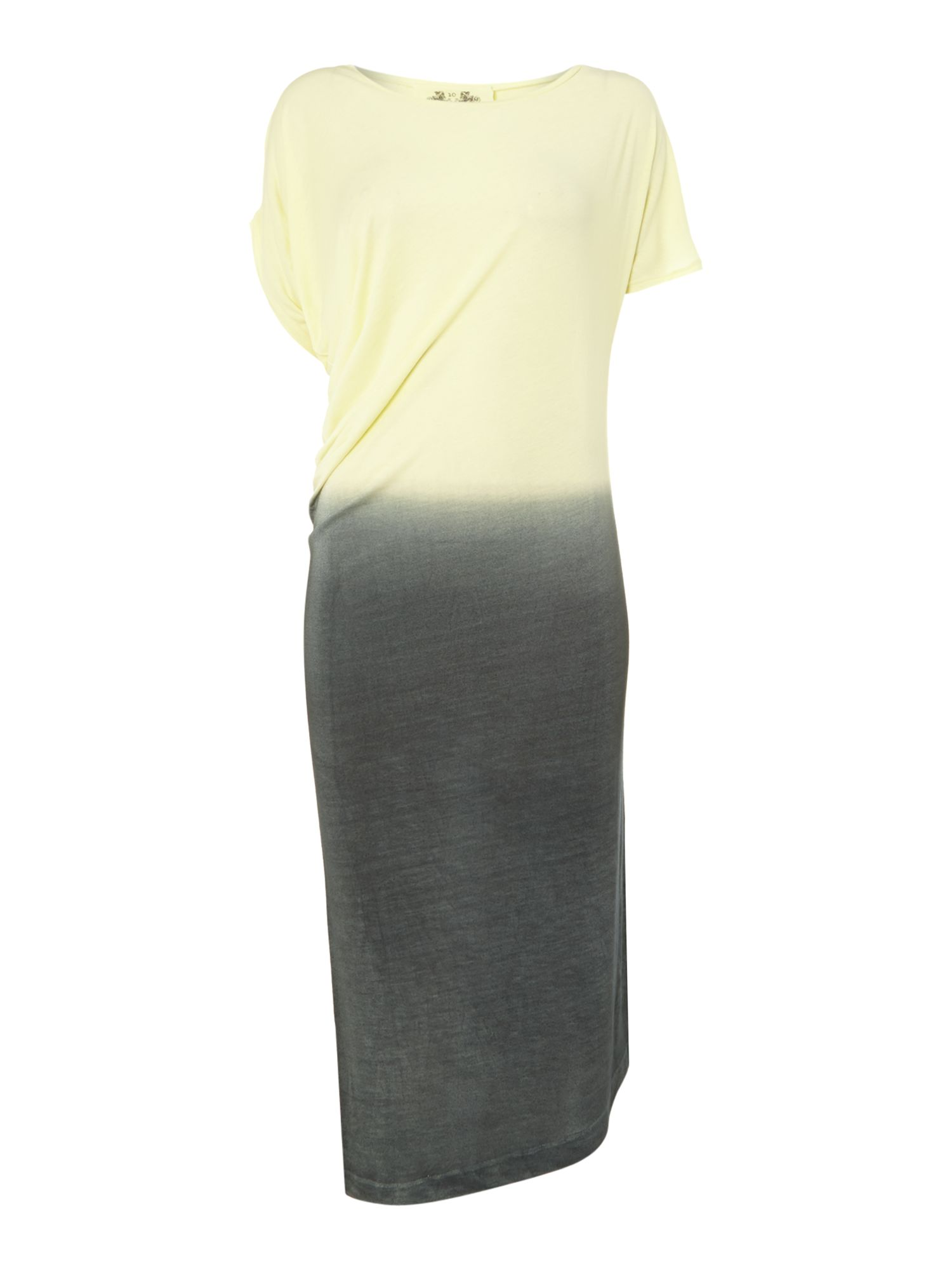 Asymmetric dip dye jersey dress