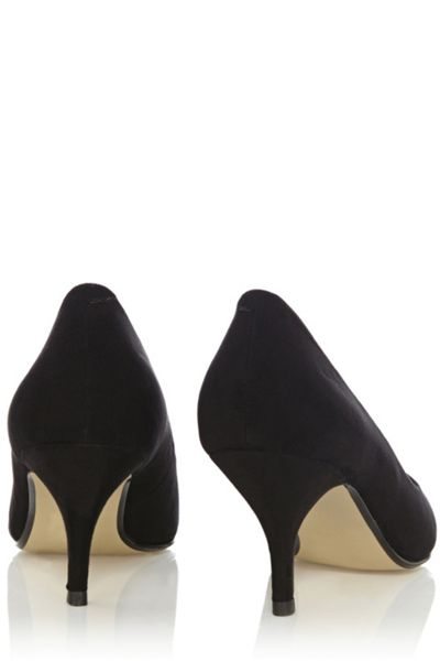 Oasis Eve mid heel court shoes